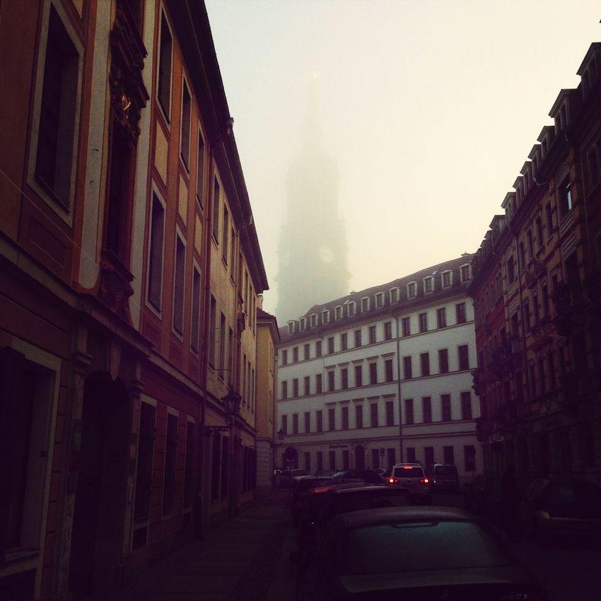 Church Fog Sunday Morning Walk