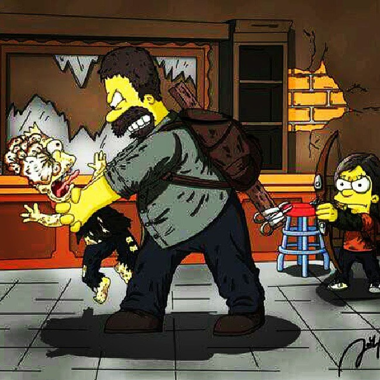 The last of us X Simpson TLOU Simpson