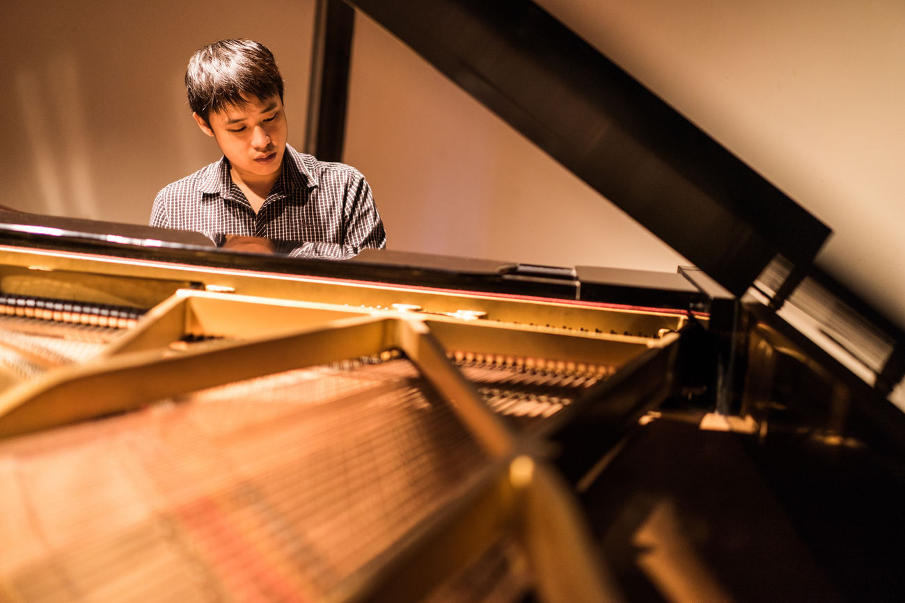 Portrait of Man Playing Piano Adult Adults Only Arts Culture And Entertainment Classical Concert Classical Music Concert Hall  Day Education Indoors  Learning Music Musical Instrument Musician One Person Only Men People Performance Performing Arts Event Pianist Piano Piano Moments Playing Practicing Student Young Adult