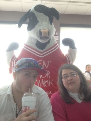 Hanging out at Chick-fil-A by Kevin Purcell