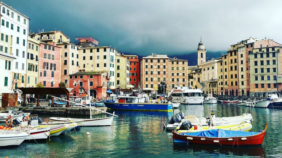 Nautical Vessel Building Exterior Architecture Travel Destinations Water City Mode Of Transport Travel Tourism Apartment Transportation Outdoors Vacations Cityscape No People Yacht Sea Day Sky Landscape Liguria Liguria,Italy Camogli Camogli,Italy,Liguria Camogli Italia