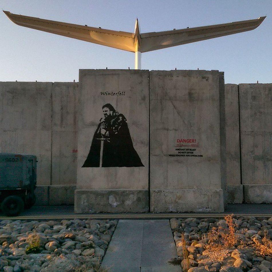 Winteriscoming Twallart at Kabul Afghan international airport art gameofthrones