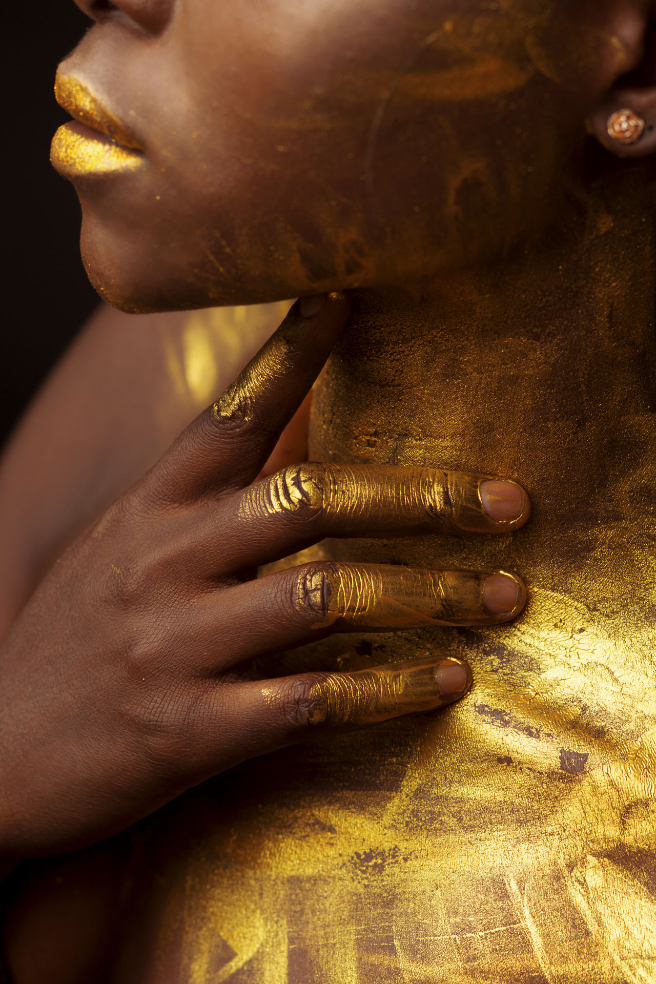 Close-up Gold Golden Human Body Part Human Hand Jewelry Paint Religion Spirituality Studio Studio Photography Studio Shot