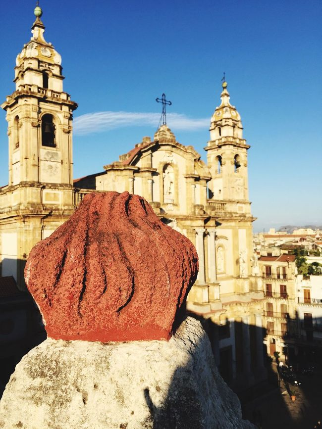 Found On The Roll Church Overhead View Outdoor in Palermo Sicily Blue Sky Building Exterior Religion Architecture Travel Destinations Cathedral Streetphotography Religious Architecture Tourism Dome San Domenico Place Piazza San Domenico Italy