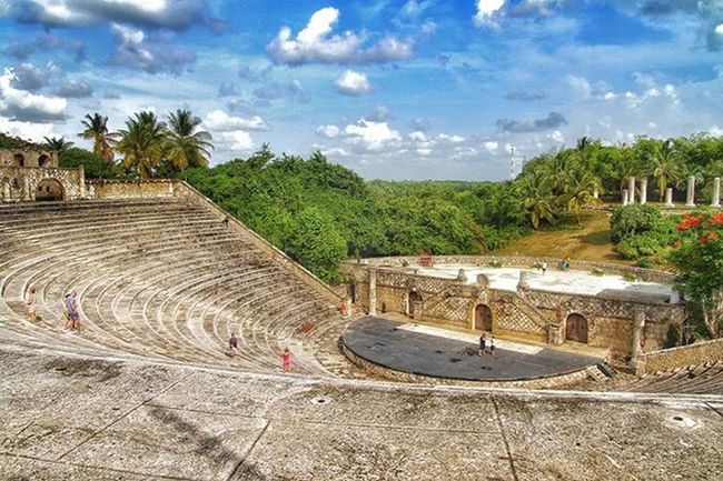 Amphitheatre in Altos De Chavón, Dominican Republic - looks like an ancient ruin, but built in the '70's by a millionaire, superstars like Madonna or Iglesias took their concert here, in this magnificent place EEprojects Tourism Travel Canon_photos Awesomeearth Caribbean Ancient Summer @natgeotravel Luxury Tropical Altosdechavon Dominicanrepublic Holiday Palmtrees Theworldguru LiveTravelChannel Travelawesome Cbviews Earthfocus Architecture Exploretocreate Amphiteatre Awesomeglobe Beautifuldestinations Architecture designconcert theatre realestatehighlifebluesky@discoverearth