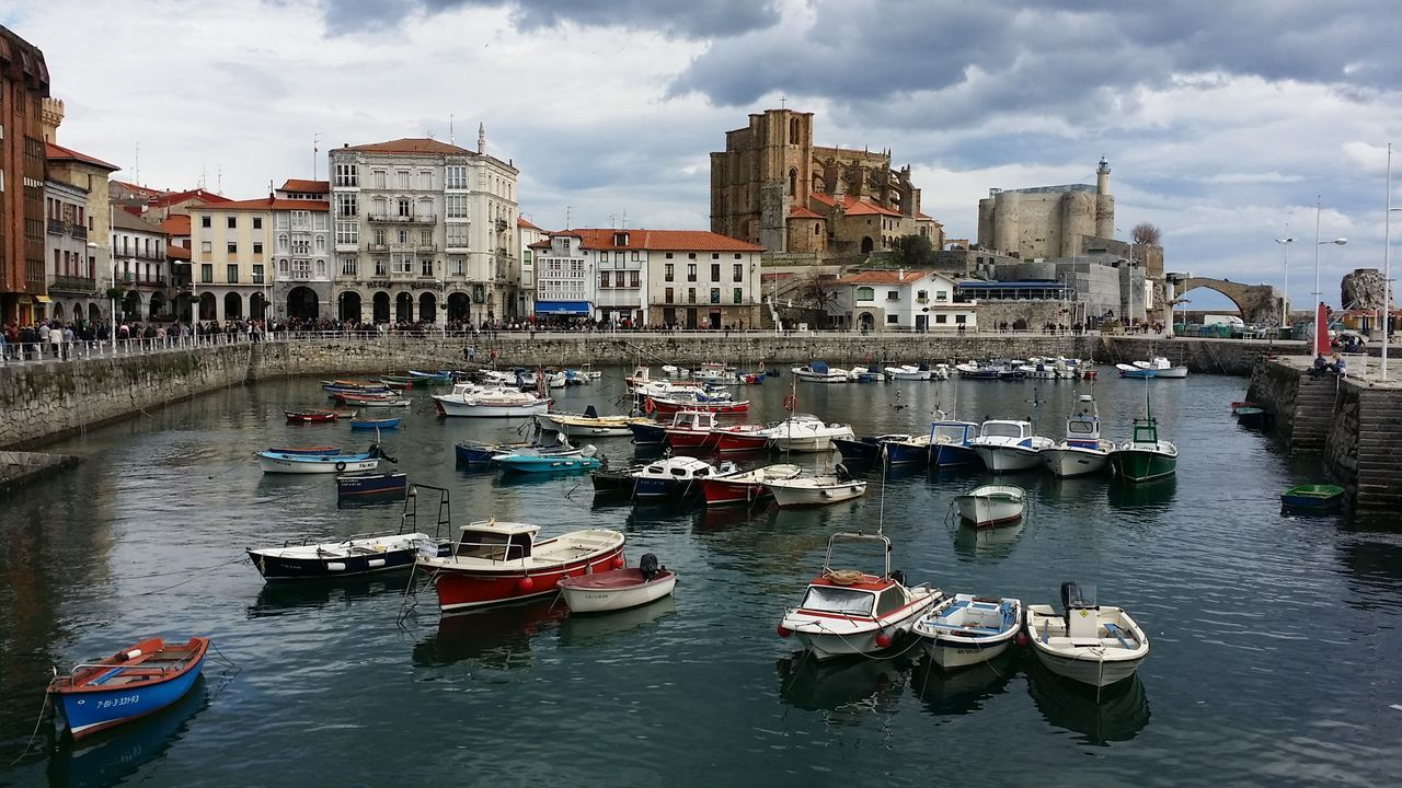 BOATS MOORED IN CANTABRIA, SPAIN