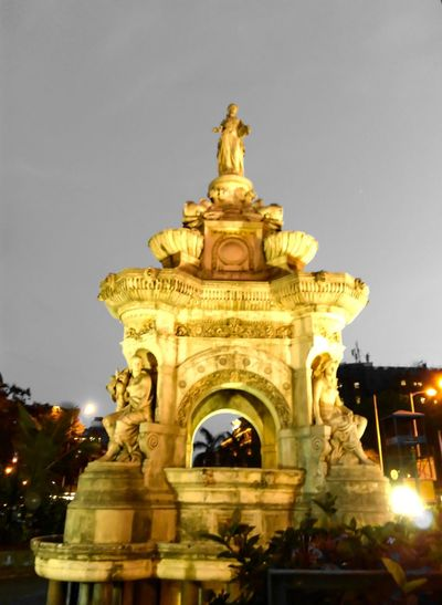 Things I Like Mumbai Flora Fountain Cast In Gold Iconic Architecture