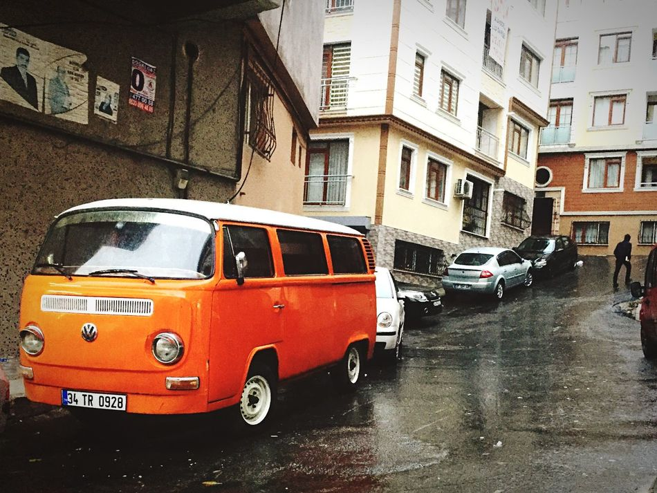 Orange Karavan Car Freedom Style ☀️🚐 Mode Of Transport Building Exterior Architecture Transportation Built Structure City Outdoors Land Vehicle Stationary No People Day