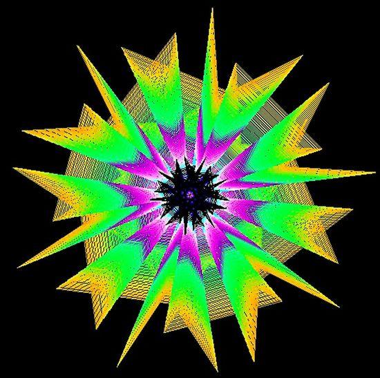 Geometric Mandala Psychedelic Reality Loving Life!