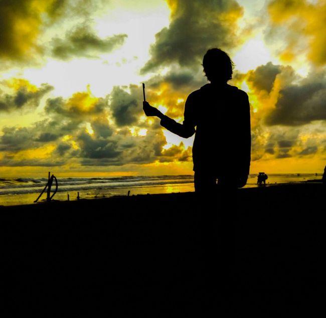 This is My Boy 😘 Taking Photos Enjoying Life Hello World Kamerahpgue Redmi2 Photograph Explorejogja Jogjaku MYheart Sunset Di Pantai Parangtritis Yogyakarta