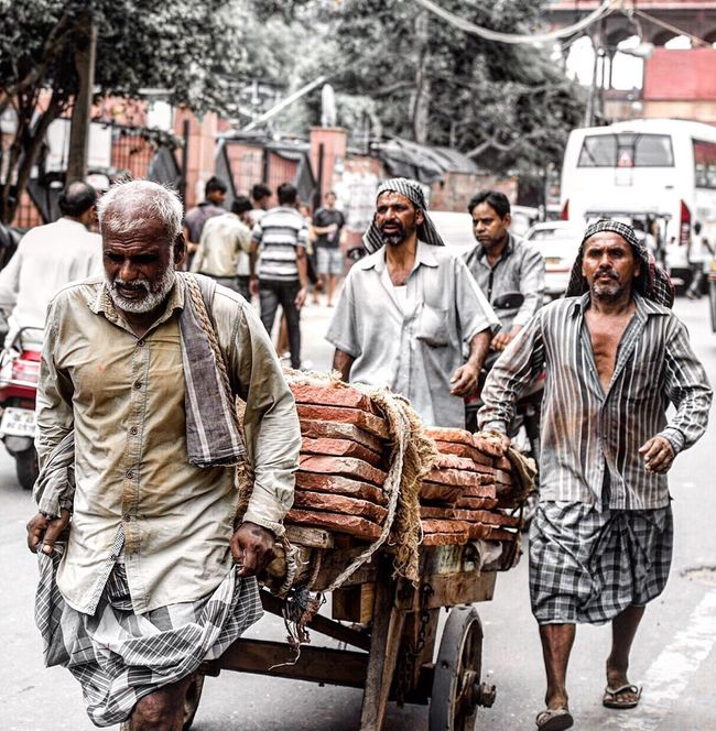 A working class hero is something to be. India_gram Lifestyles City Focus On Foreground Outdoors Indiaclicks India_clicks DelhiGram Delhi_igers Delhi6 Chandnichowk Wanderlust