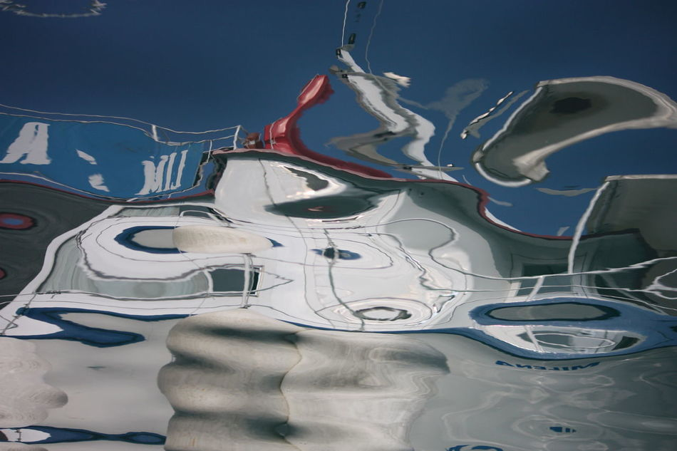 Boat Floating Water No People Reflection On Water Strangenature Summer Waves