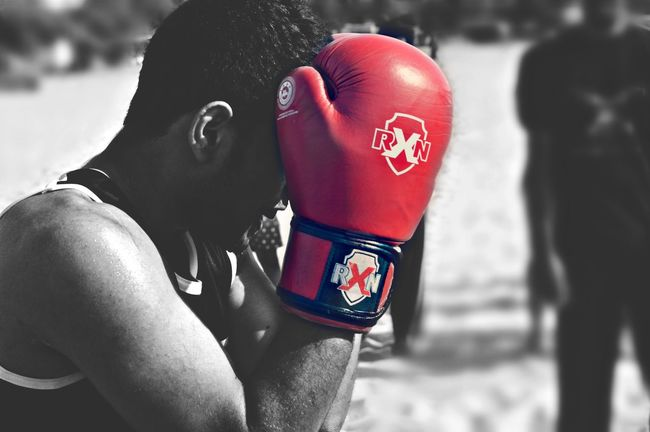There is a lot of diiference between watching the fight and be a part of the fight Beach Boxing Rxn Chennai Life Survival EyeEem Fighting