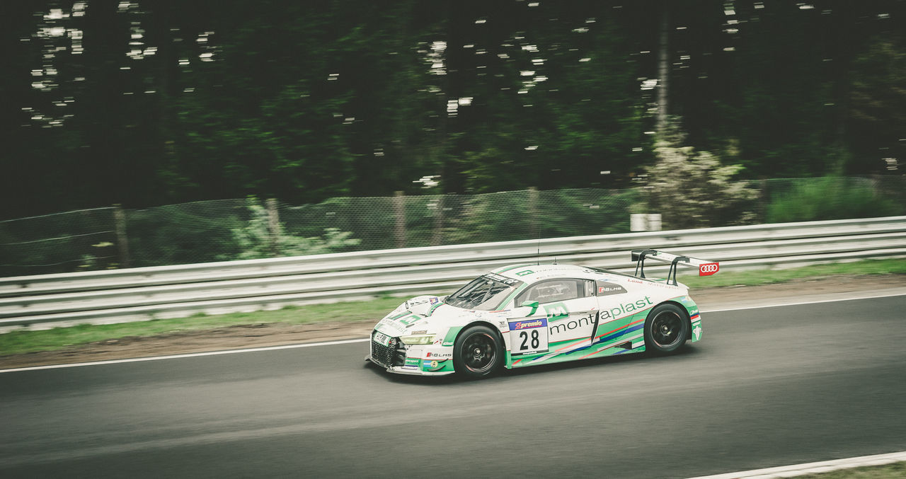 Audi Blur Blurred Motion Close-up Day Movement No People Outdoors R8 Race Race Track Racecar Racetrack Racing Road Tree White