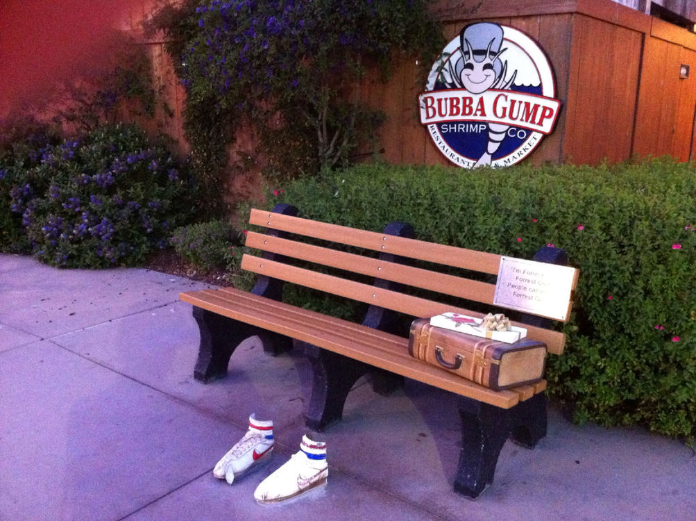 on the road at Bubba Gump Shrimp Company by Vicki Donk