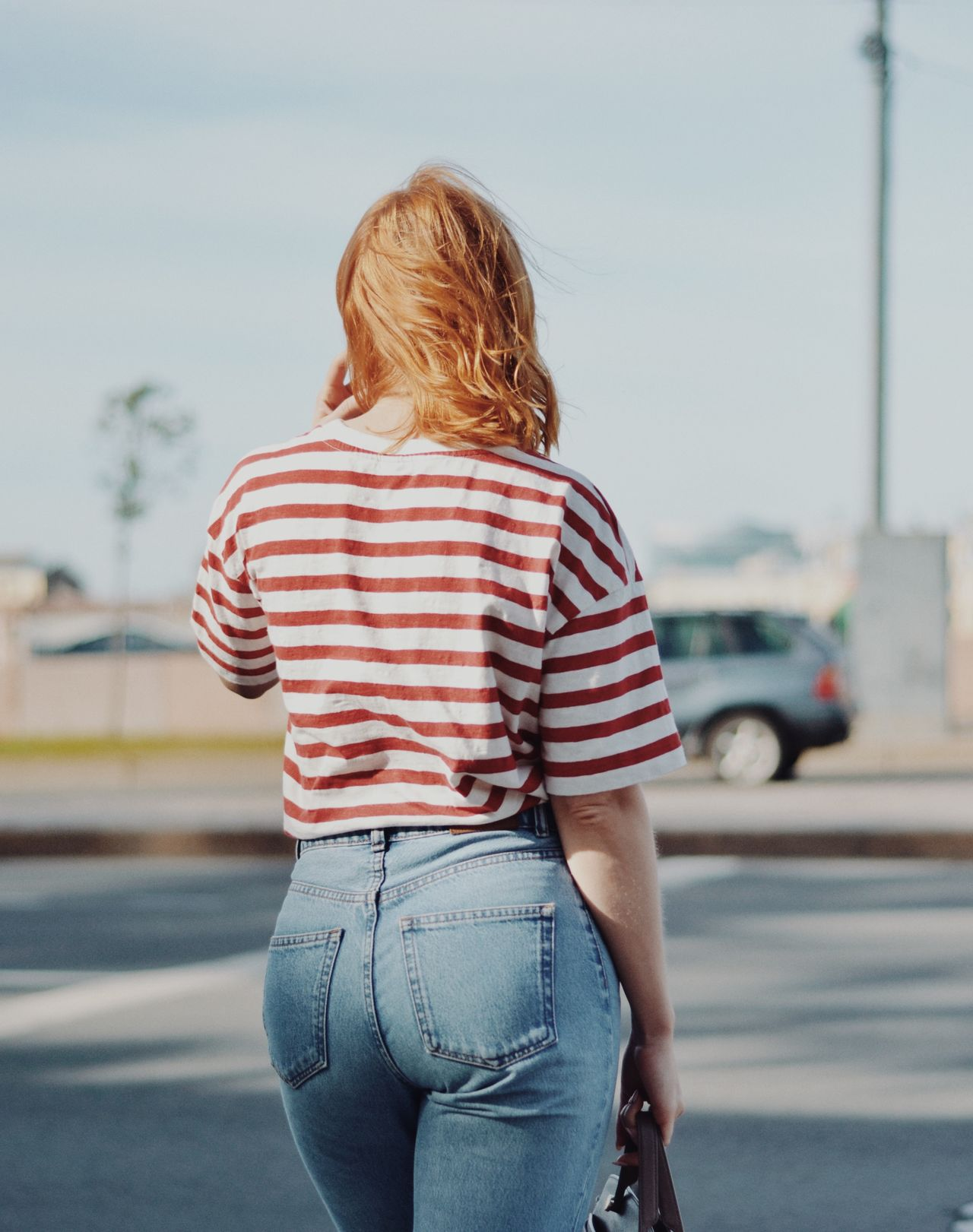 Boots Casual Look Portrait of a Woman blond hair casual clothing clothes day focus on foreground girl leisure activity lifestyles one person outdoors portrait real people Rear view Road sexygirl Standing streetphotography striped Transportation urbanphotography young adult young women Fresh on Market 2017