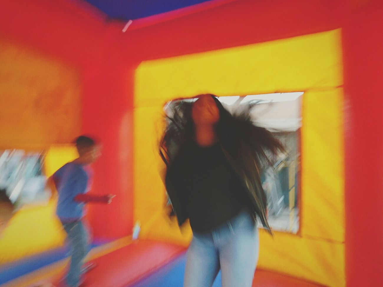 Blurry Accidently On Purpose Blurred Motion Birthdayparty Fun Bouncy Castle