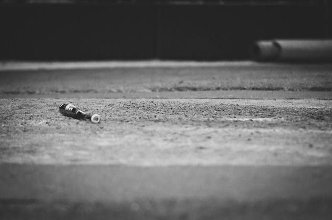 And when the season ends... Baseball Baseball Bat Blackandwhite Close-up Day Detail Eye4photography  Eyeemblack&white Focus On Foreground Ground Monochrome My Life My Point Of View Nature No People Original Experiences Outdoors Selective Focus Sport Sports Sports Photography Surface Level Vignette