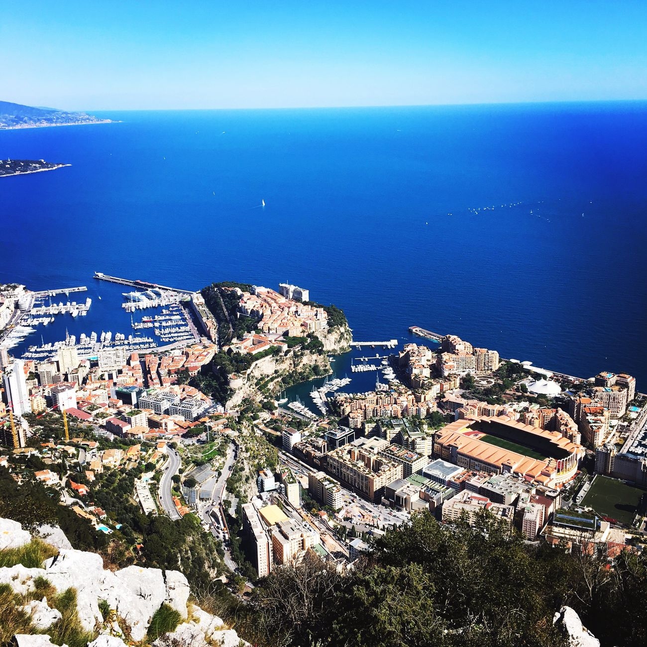 Sea Sea And Sky City Blue Monaco Panorama Day Chilling Frenchriviera First Eyeem Photo