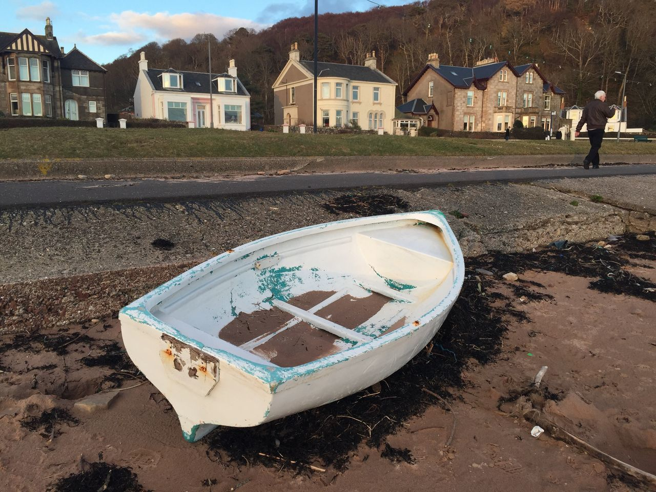 Rowboat Millport Seaside Seascape Beach Beachphotography Boat White Sand Old Boats Old Boat lovely old boat I found in millport