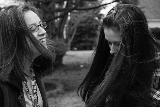 Women Who Inspire You || My little sisters inspire me to be better, to be their role model but to live life to the fullest without a care in the world, and to never forget to have a good laugh || Photography Photosession School Nikon Nikond3300 Outdoor Photography Little Sisters Black And White Homework College Project Inspiration Family Love Candid Twins Twin Sisters Teens Teenagers  Freshman