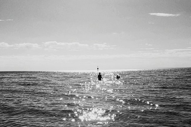 Waiting for Summer to come back. Elwood Beach Black & White Surf