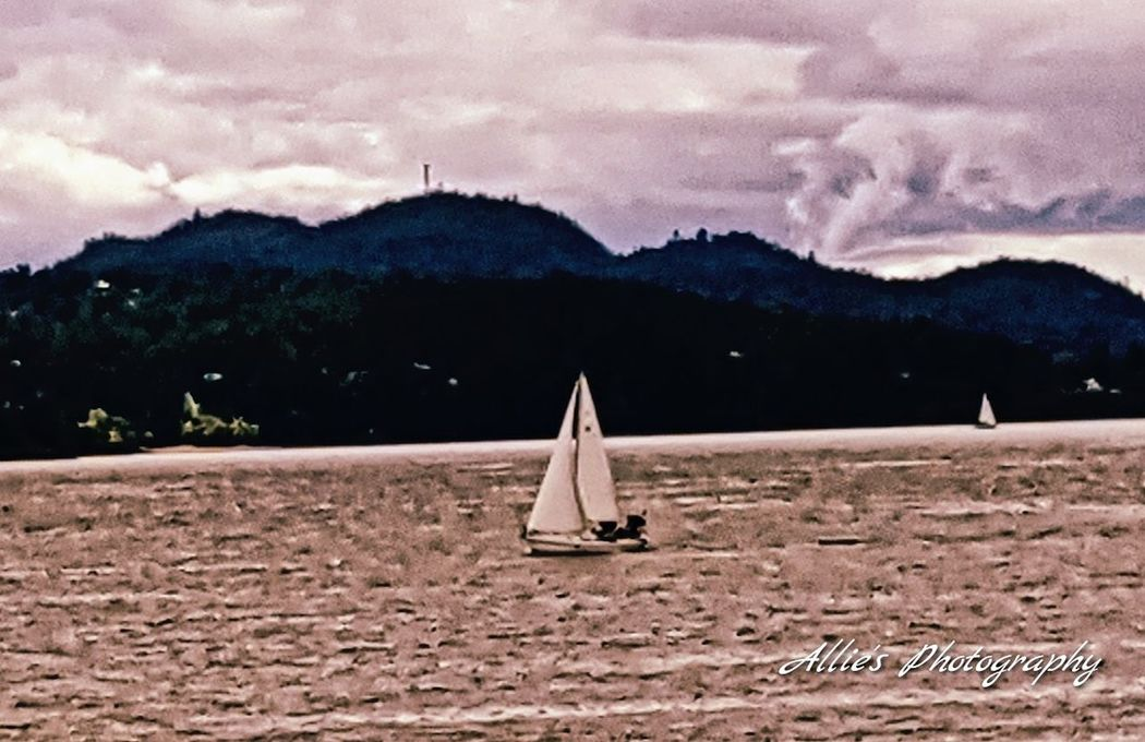 Adventure Outdoors Sailing Boat Cloudy Day EyeEmNewHere Sail Away Ocean Life Serenewaters