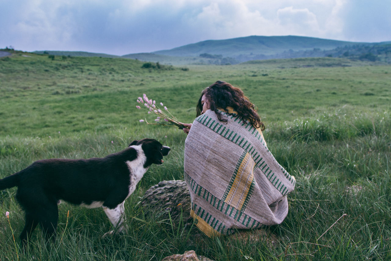 Dogs Dogs Of EyeEm Friendship Grass Grassland Landscape Landscape_Collection Slow Living The Great Outdoors - 2017 EyeEm Awards