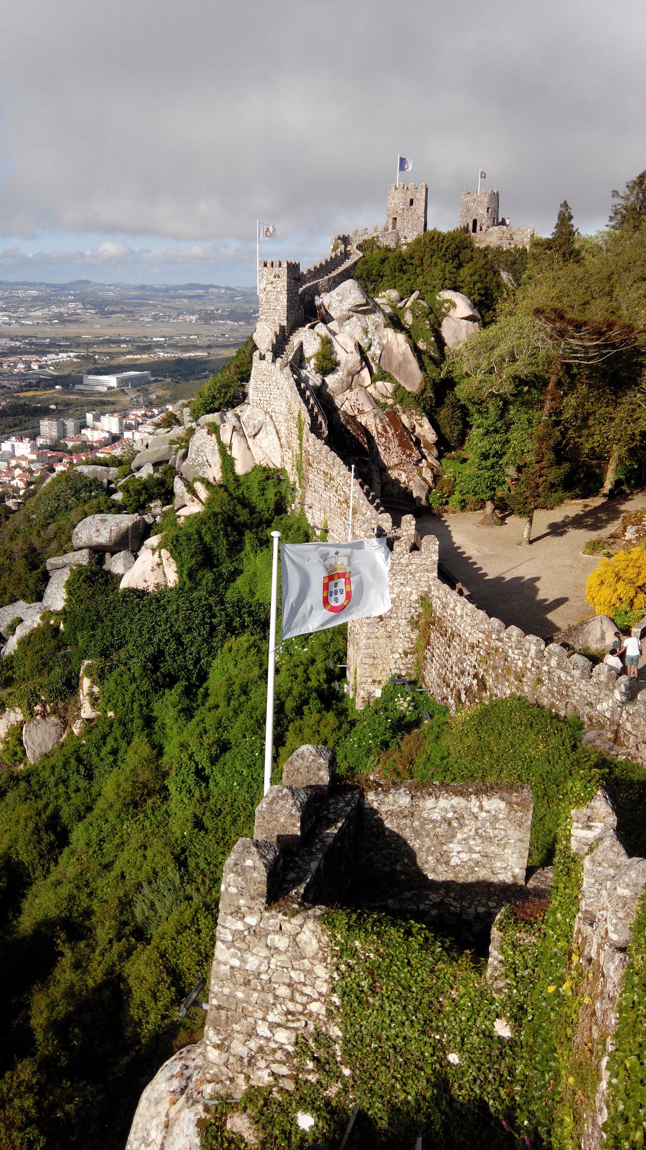 View Over The City Castle Walls View From The Top Historical Place Castle Wall Murals Castleporn Muralha Castles Rock Wall Wall Castle Door History Flag Castle Window Old Portuguese Flag Monarcy Portuguese Portugal Flag Castle Flags In The Wind