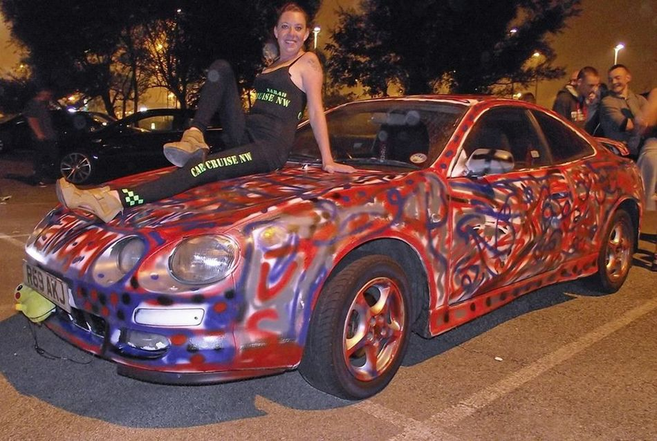 One of my celicas at a chairty cruise in morecambe 2 years ago.. Toyota Celica GT Modern Art Love Celicas Paint