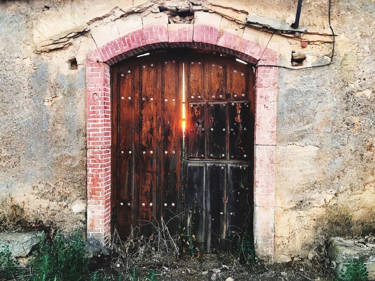 architecture, door, built structure, entrance, window, building exterior, house, damaged, no people, open door, day, outdoors