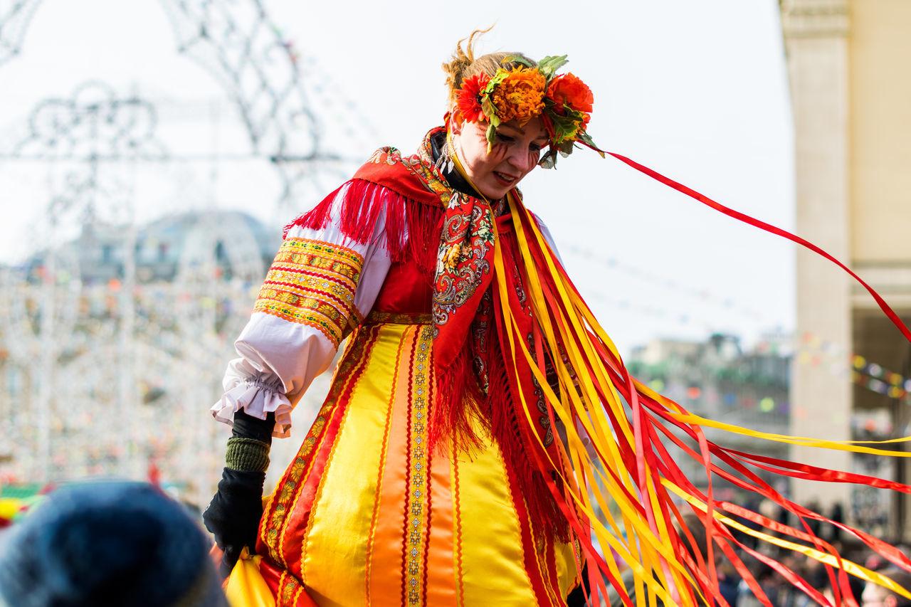 Woman Wearing Costume