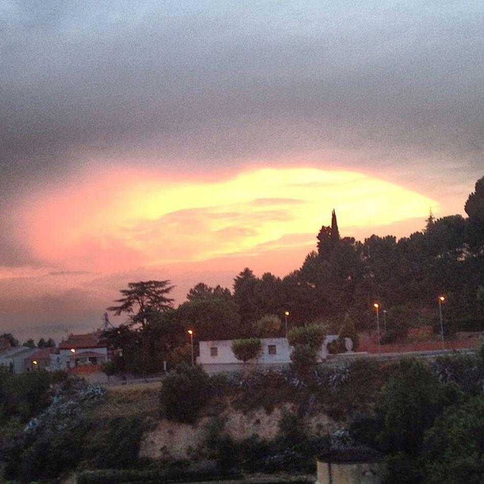 Sunset Sun Night Orange sky Ullastrell Barcelona