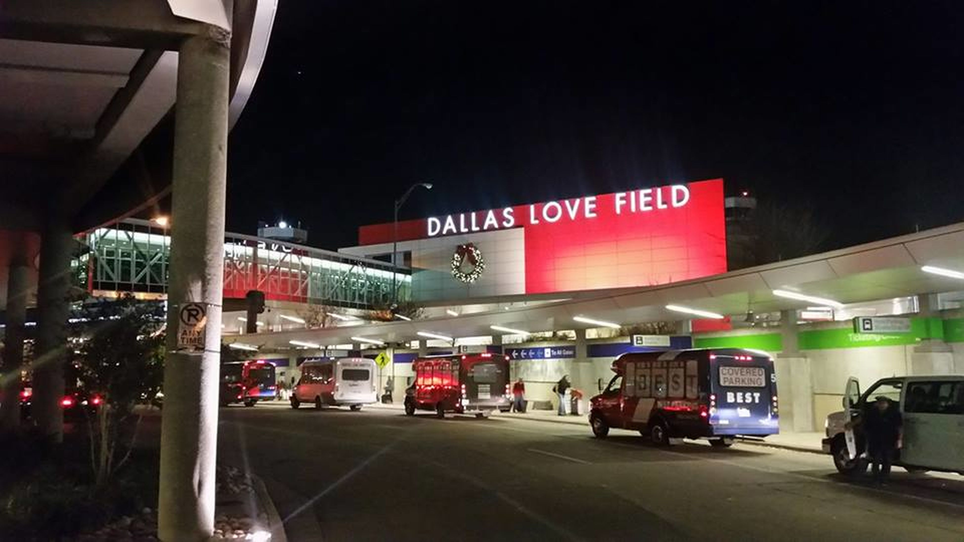 Airport Built Structure Dallas Love Field Airport Red Plants Love Fields Night Rental Trucks Sky Ridge Travel
