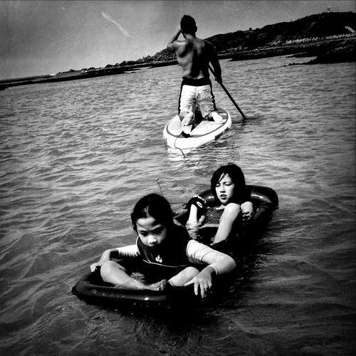 Enjoying The Sun Sunshine Portrait Swimming ..beach Art Emography Portraits ..seize The Day Bw_collection Black & White