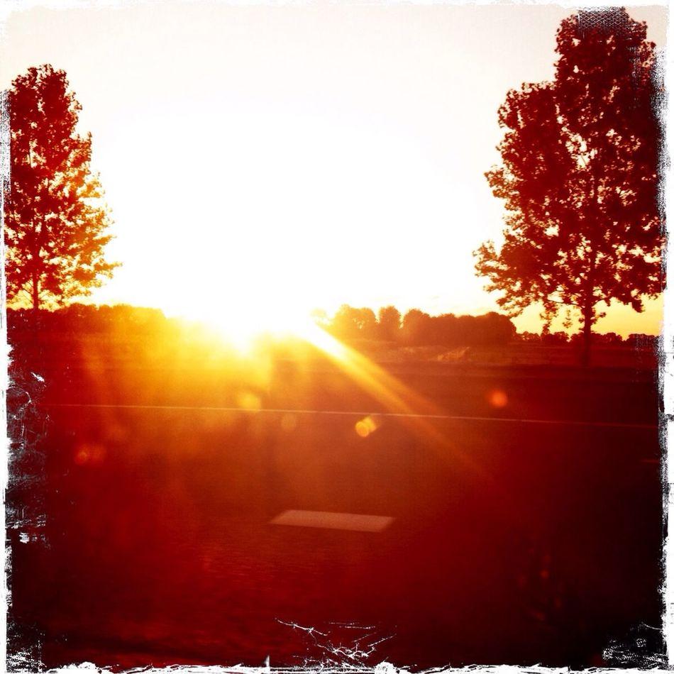 Burning Skies Sunset Nature Beautiful