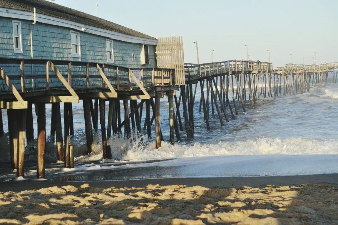 OBX North Carolina Pier Avalon Pier Ocean Ocean View Vacation Blue Water No People Nature Wood - Material Built Structure Outdoors Sky Day Architecture Waterfront