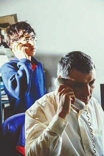 Father Fatherandson Son Cell Phone Padre Padreehijo Hijo Call Llamada