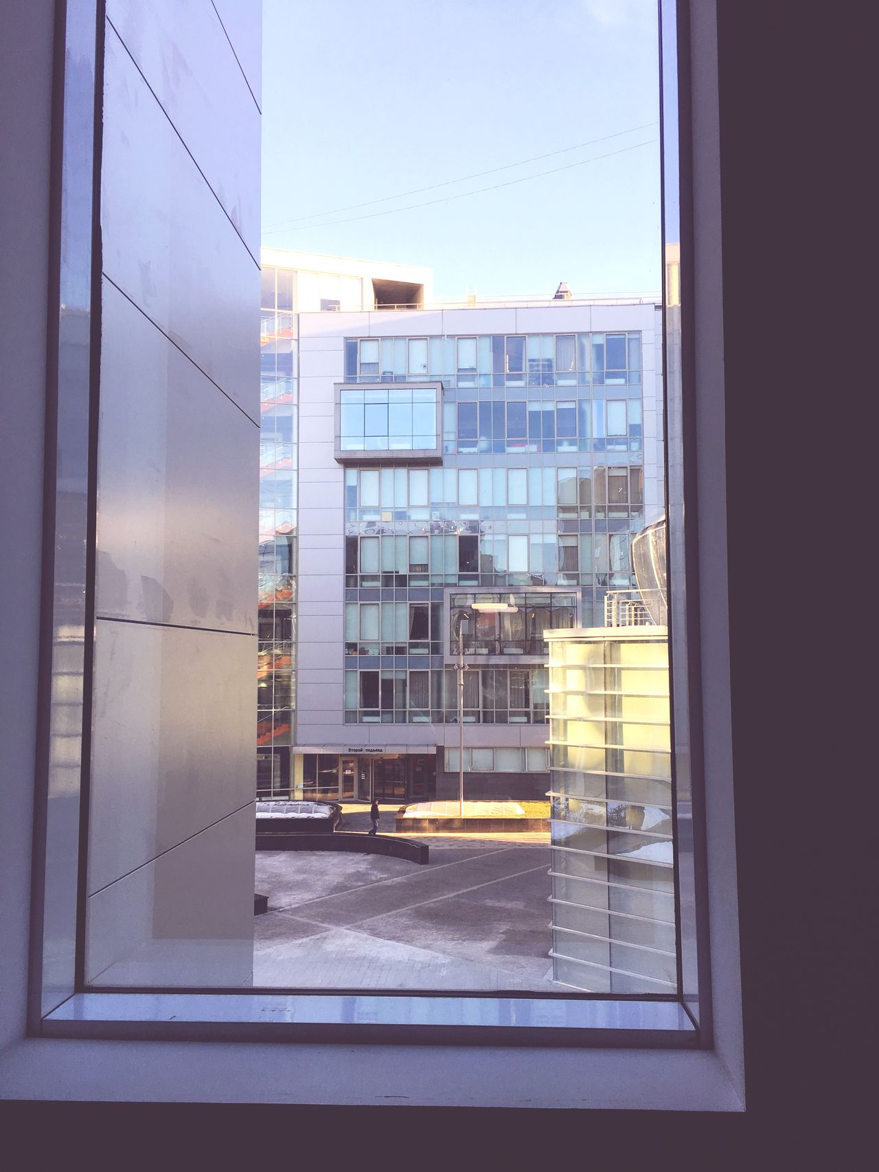 Office Building Office Building Exterior Inside Out Frame It! Framed Business Office Block Office Moscow No People City