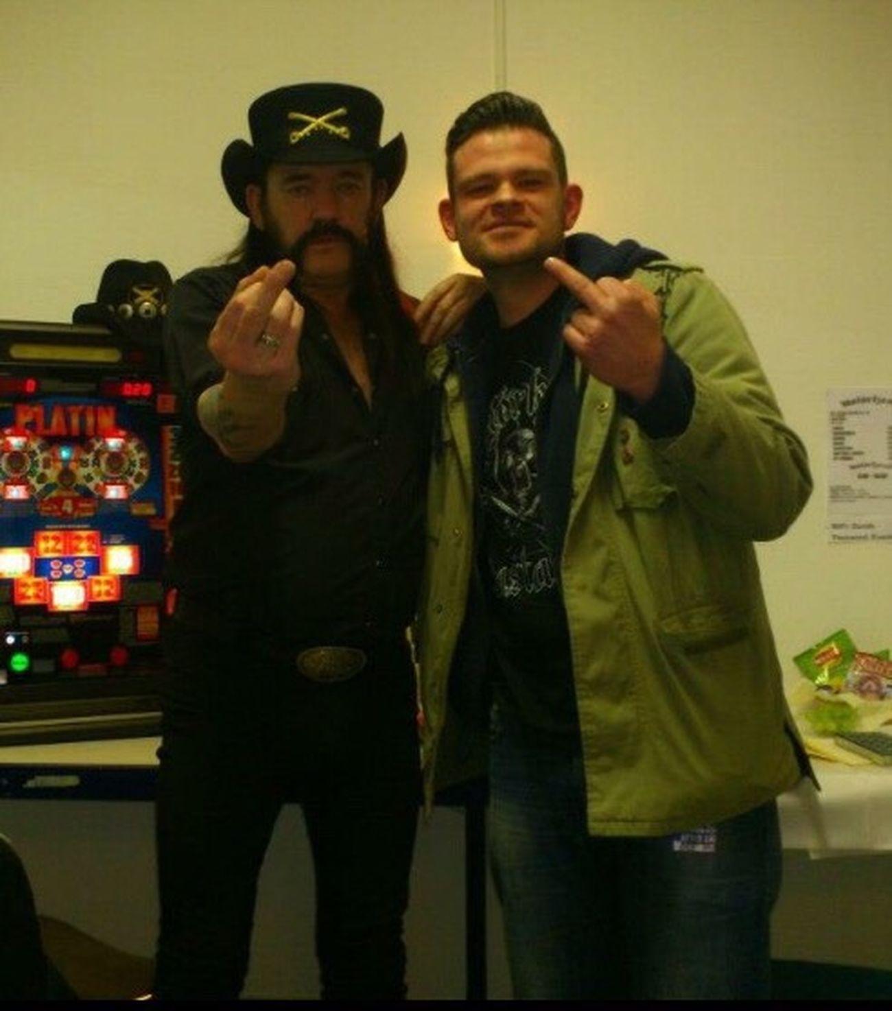 Two People Lemmy LemmyKilmister Motörhead Backstage Rocknroll Rock Music Icon Friends Love ♥ Front View People
