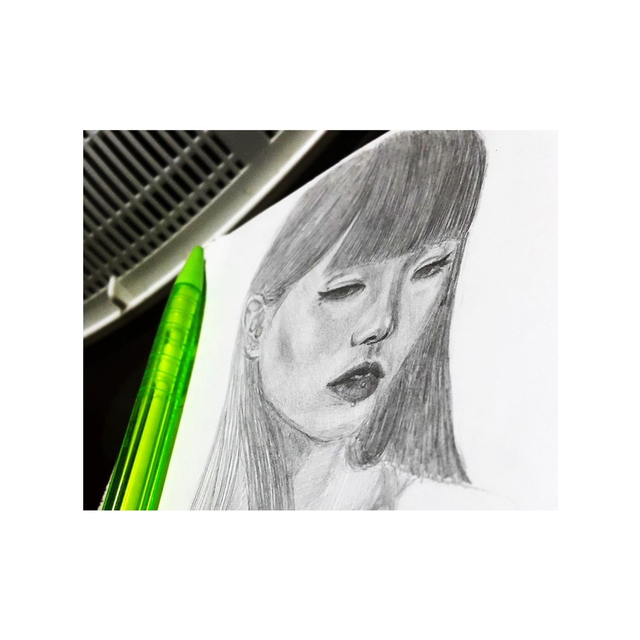 She's the tear in my heart 💘 Art Beauty Portrait Sketch MyArt Pencil Drawing Drawing ArtWork Sketchbook PracticeMakesPerfect Beginner Artist Philippines Study Passion Enjoying Life