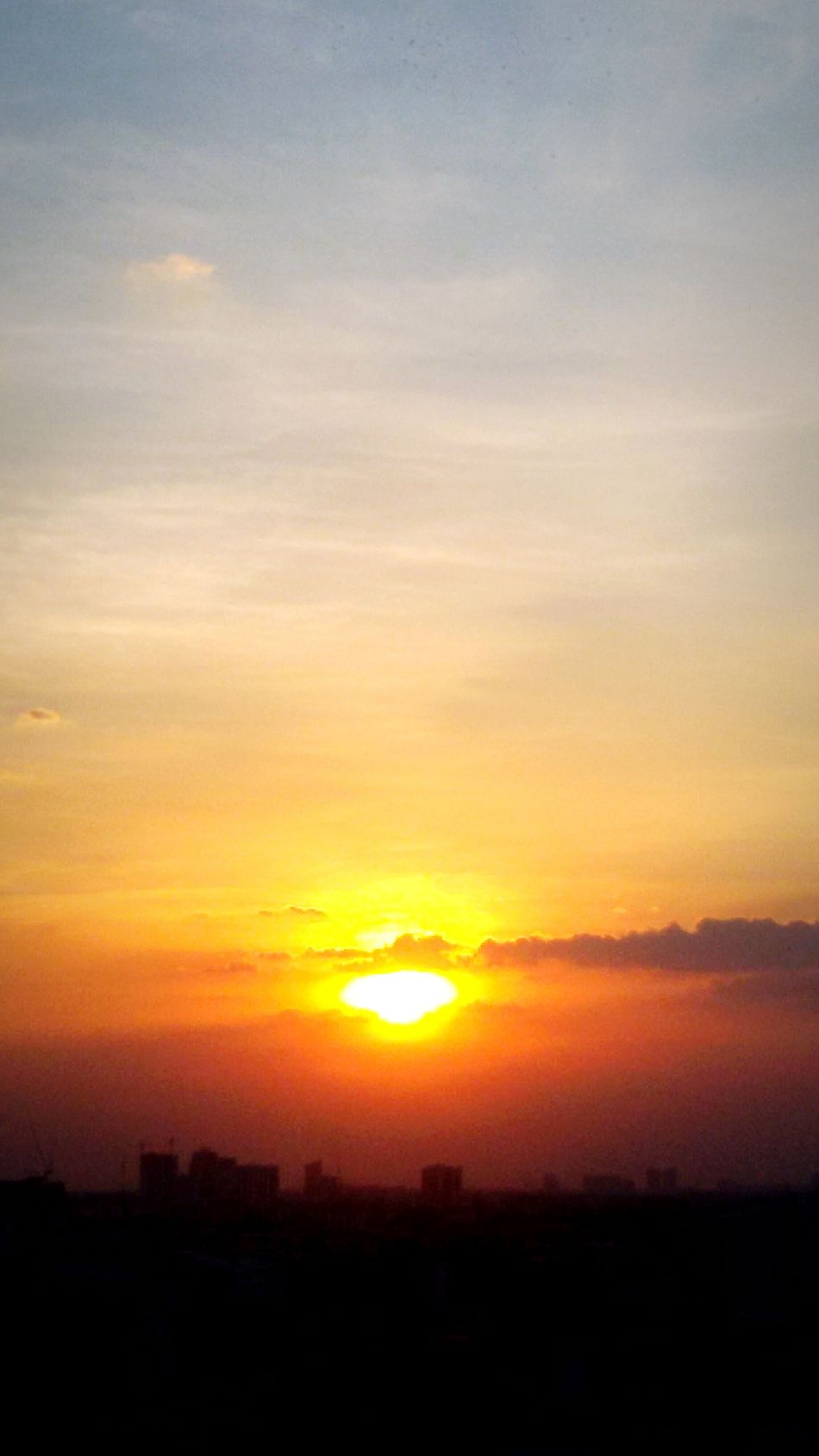 Sunset, Sundown, early Night, Bangkok cityscape, Thailand, Getting In Spired. .