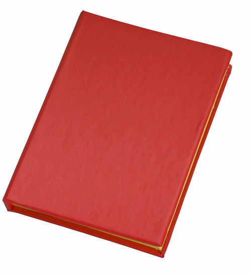 Blank cover red book cutout on white Blank Book Notebook Red Book White Background
