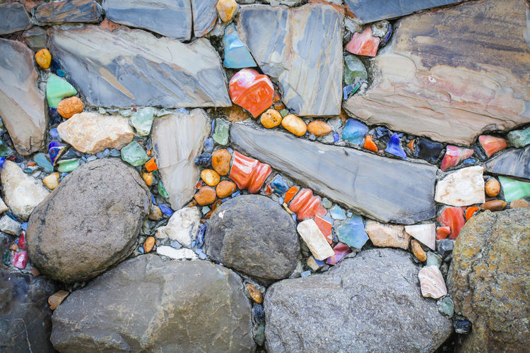 Backgrounds Day Full Frame Garbage High Angle View Nature No People Outdoors Rock - Object Stone Mosaic Waste Management
