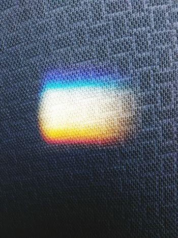 练车时不知道怎么反射出来的一道彩虹