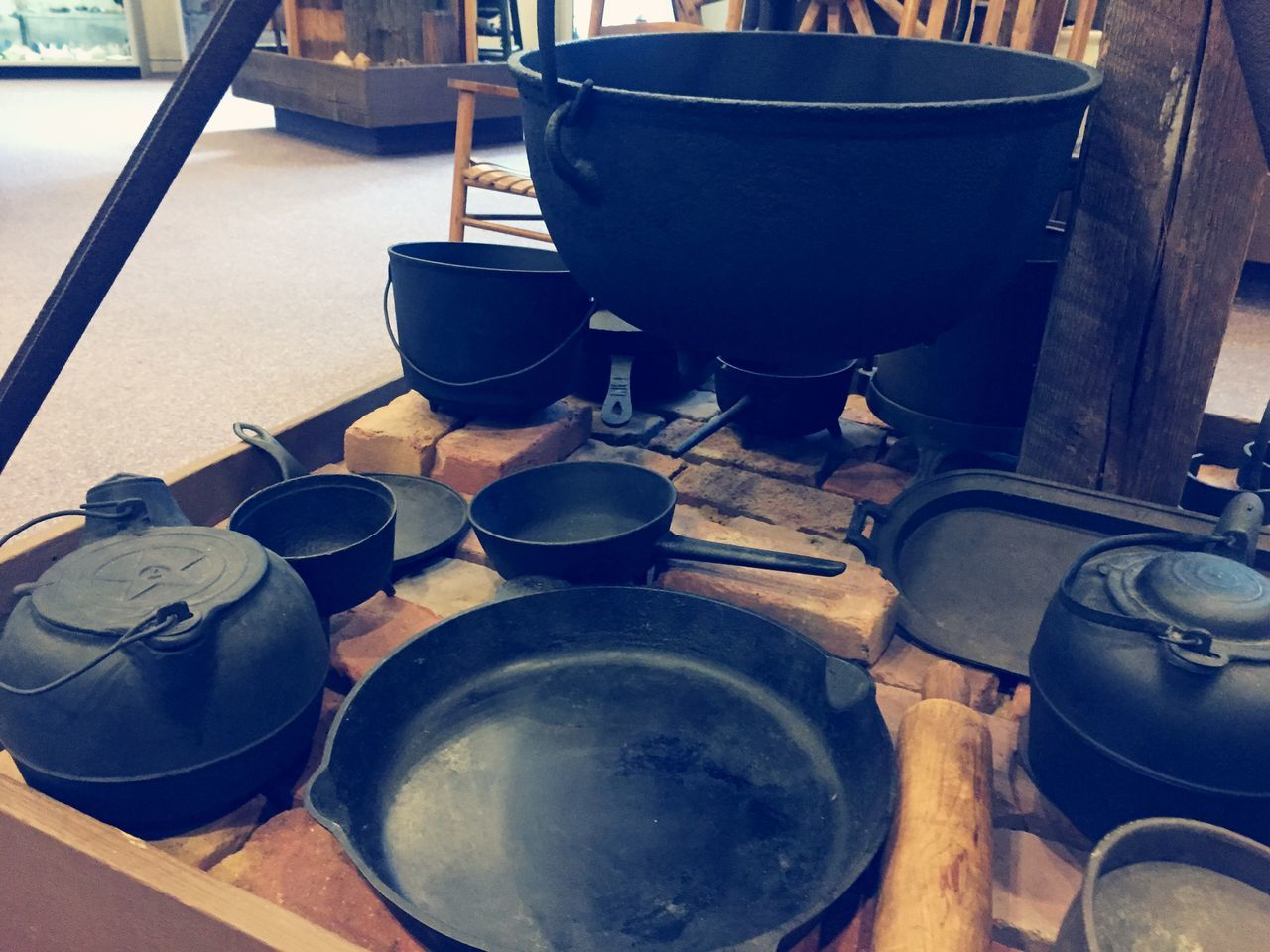 Old Pots And Pans Displayed At Museum