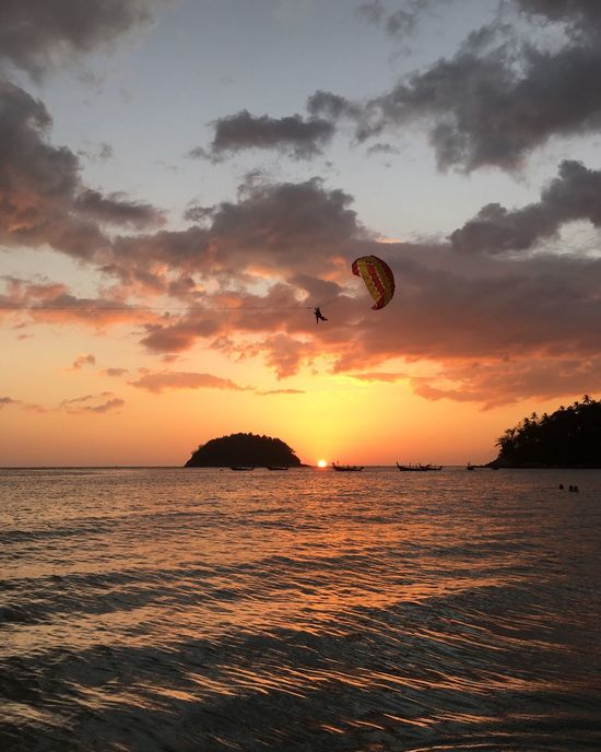 Thailand, Phuket Sunset Sea And Sky No Filter