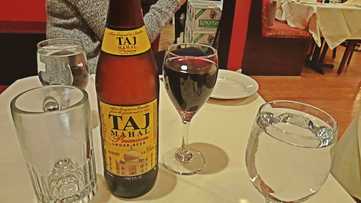 Try some Indian beer, woo!! U will love it. Indian Food Indianrestaurant