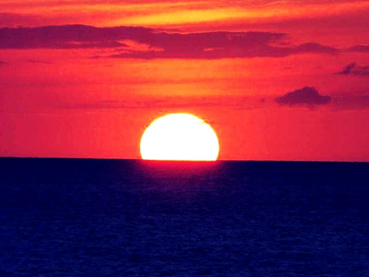 Sun Sunset Sun Going Down Clearwater Beach Florida Florida Sunset Sun Melting Into The Water Orange Sky Enjoying Life Color Relaxing Beautiful Awesome Older Than Antiquity . Goodbye Sun Goodbye Day