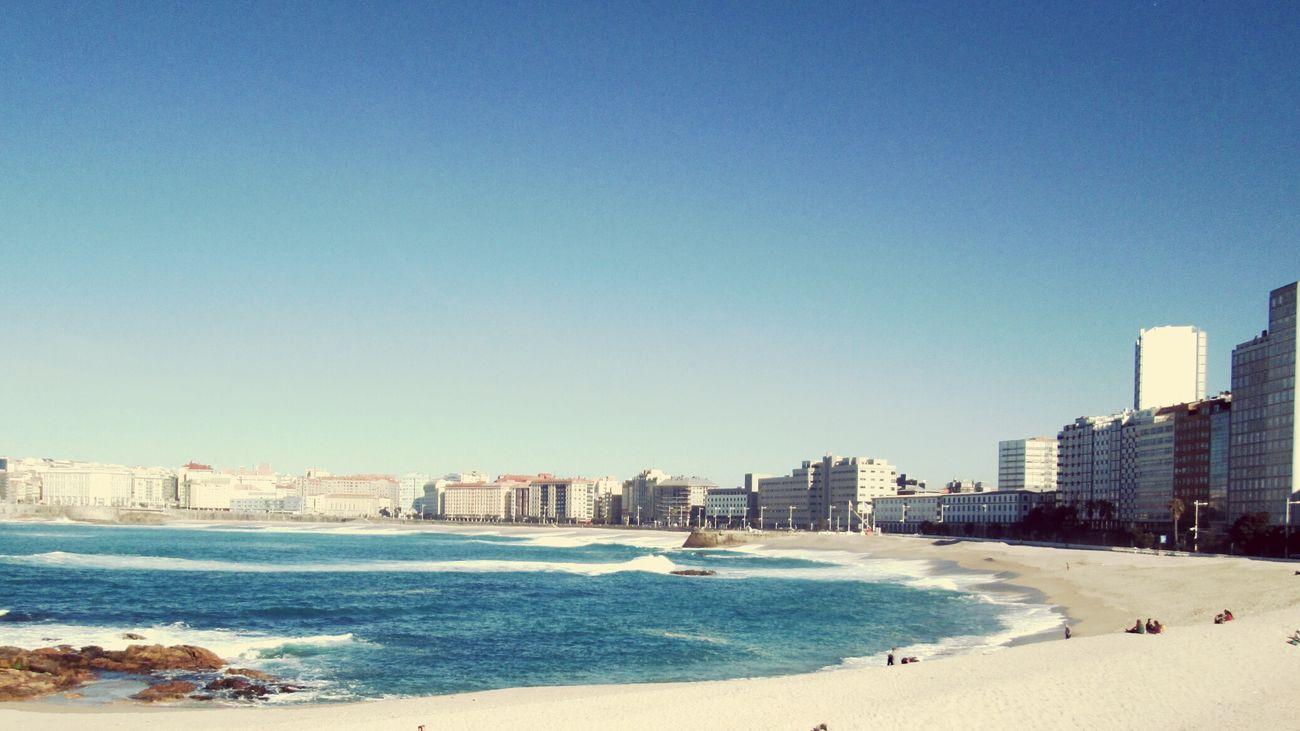 A Coruña Springtime Beach Riazor Vivirnacoruñaquebonitoé